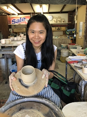 Han Yin Yang making ceramics