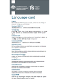 Image of Language card